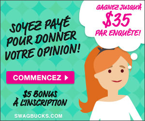Sondages Payants : Swagbucks